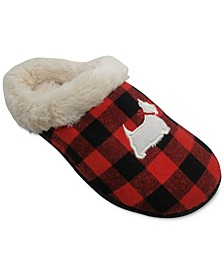 Women's Buffalo Check Scottie Slippers, Created for Macy's
