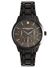 Men's Gunmetal Metal Alloy Bracelet Watch, 40 mm