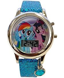 Kid's My Little Pony Digital Glitter Silicone Strap Watch 34mm