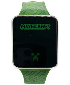 Kid's Minecraft Green Silicone Strap Touchscreen Watch 36x33mm