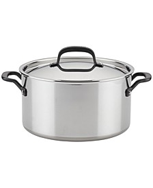 Polished Stainless Steel 8-Qt. Stockpot with Lid