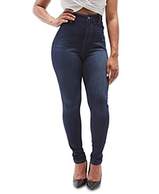 Juniors Curvy High Rise Skinny Jeggings