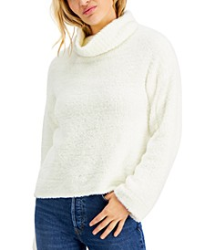 Juniors' Plush Turtleneck Sweater