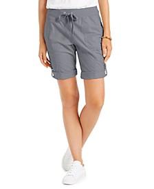 Roll-Tab Drawstring Shorts