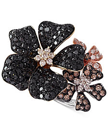 Confetti by EFFY Multicolor Diamond Flower Ring (2 ct. t.w.) in 14k Gold