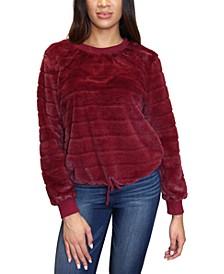 Crave Frame Juniors' Faux Fur Sweatshirt