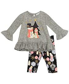 Baby Girls Applique Legging Set
