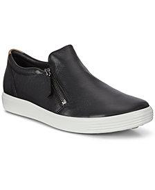 Ecco Womens's Soft 7 Side-Zip Sneakers
