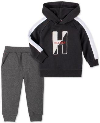 Baby Boys 2-Pc. Fleece Hoodie & Jogger Pants Set