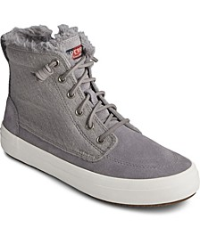 Women's Crest Lug High Top Suede Sneaker