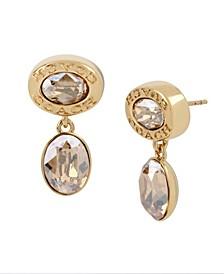 Signature Logo Swarovski® Crystals Double Drop Earrings