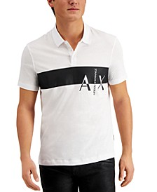 Men's Stripe Logo Graphic Polo Shirt, Created for Macy's