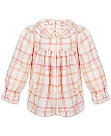 Baby Girls Plaid Cotton Top, Created for Macy's