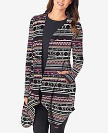 Fleece Long-Sleeve Hooded Wrap