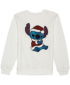 Juniors' Santa Stitch Sweatshirt