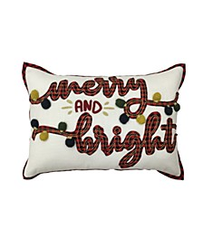 "Merry & Bright 14"" x 20"" Decorative Pillow, Created For Macy's"