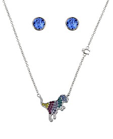 """Rexy Swarovski® Crystal Necklace and Stud Earrings Set, 16"""" + 2"""" extender"""