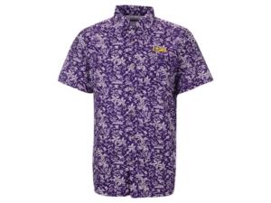 Lsu Tigers Men's Super Slack Tide Button Up Shirt