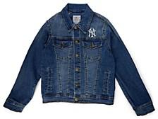 New York Yankees Youth Girls Denim Jacket