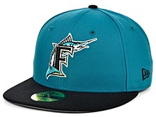 Florida Marlins 100th Patch 59FIFTY Cap