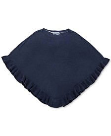 Luxsoft Ruffled-Hem Poncho Sweater, Created for Macy's