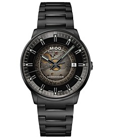 Men's Swiss Automatic Commander Gradient Black PVD Bracelet Watch 40mm