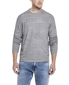Men's Soft Touch Stripe Crew Neck Sweater