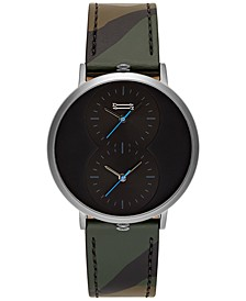 Men's Griffith Camouflage Leather Strap Watch 43mm