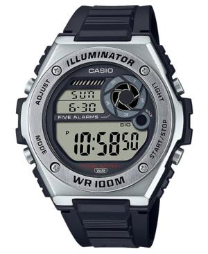 Men's Digital Black Resin Strap Watch 50.7mm