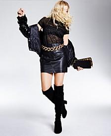 Graziella Faux-Leather Mini Skirt