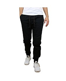 Men's Twill Cotton Stretch Moto Jogger