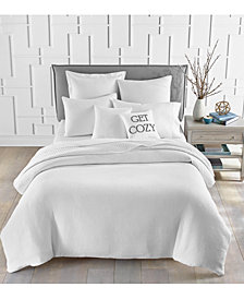 Charter Club Cotton Matelassé Ribbed 3-Pc. King Duvet Cover Set, Created for Macy's