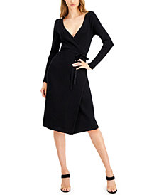 GUESS Everly Wrap Sweater Dress