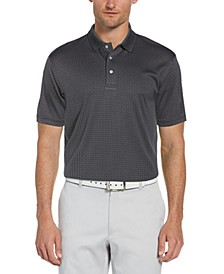 Men's Twill Check Jacquard Polo Shirt