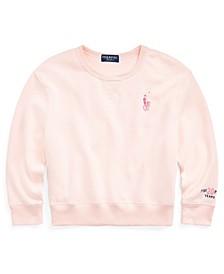 Big Girls Pink Pony Fleece Sweatshirt