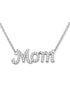 "Diamond Mom 16"" Pendant Necklace (1/4 ct. t.w.) in Sterling Silver"