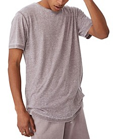 Men's Longline Scoop Burnout T-shirt