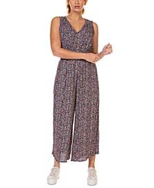 Smocked-Waist Culotte Printed Jumpsuit, in Regular & Petite
