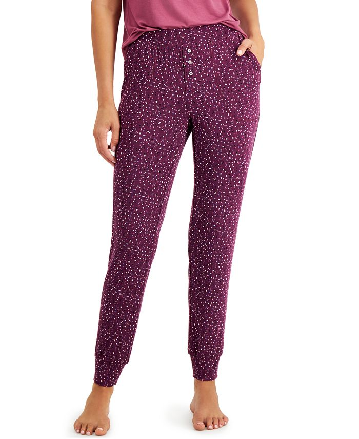 Alfani - Printed Knit Jogger Pajamas Pants