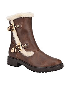 Women's Garit Lug Sole Furry Booties