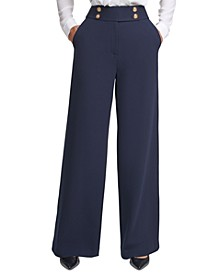 Wide Leg Pants, Regular & Petite Sizes