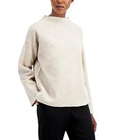 Mock-Neck Dropped-Shoulder Sweater
