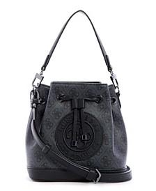 Nadia Signature Crossbody Bucket Bag