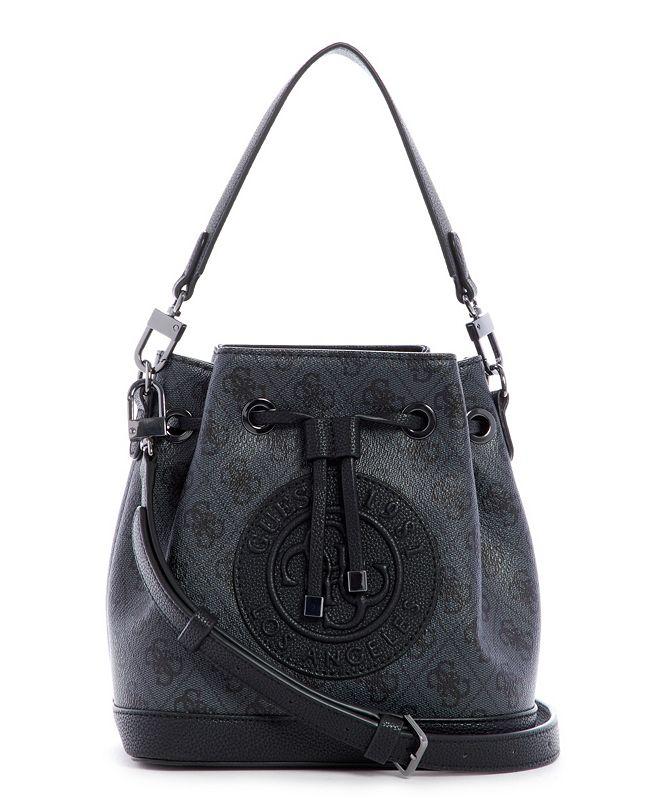 GUESS Nadia Signature Crossbody Bucket Bag