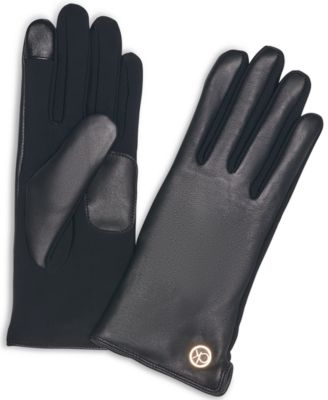 Women's Knit & Leather Touch Tech Gloves