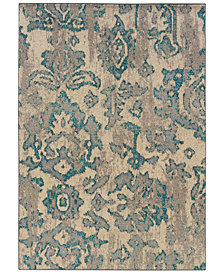 "Oriental Weavers Area Rug, Kaleidoscope 8023Y Modern Damask 4' x 5'9"""