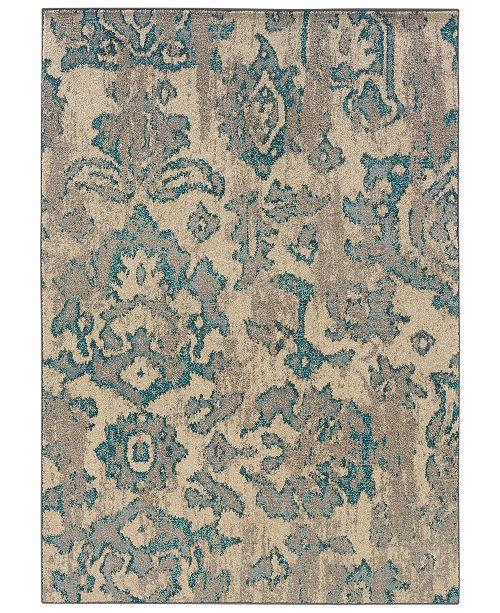 "Oriental Weavers Area Rug, Kaleidoscope 8023Y Modern Damask 6'7"" x 9'1"""