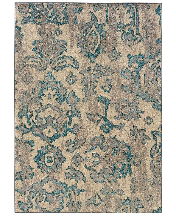 "Oriental Weavers Area Rug, Kaleidoscope 8023Y Modern Damask 5'3"" x 7'6"""