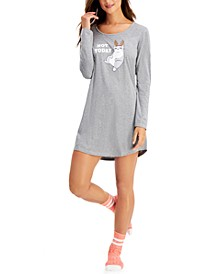 2-Pc. Sleep Shirt & Socks Set, Created for Macy's