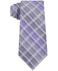 Men's Slim Highlight Plaid Silk Tie